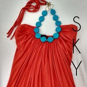 💙Sky BRAND Halter Maxi Dress XS